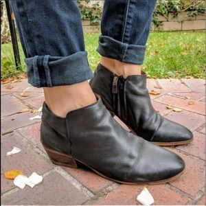 Sam Edelman Black Leather Petty Ankle Boots Size 9